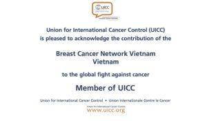 BCNV chính thức trở thành hội viên của Hiệp hội ung thư thế giới