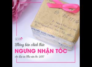 THÔNG BÁO NGƯNG NHẬN TÓC T11/2017