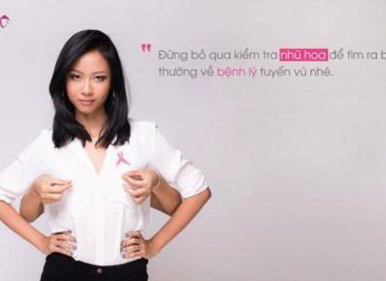 Suboi, Lê Quang Liêm cùng truyền thông về ung thư vú